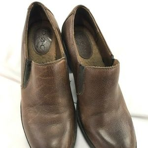 Born Concept sz 38.5 leather booties heeled